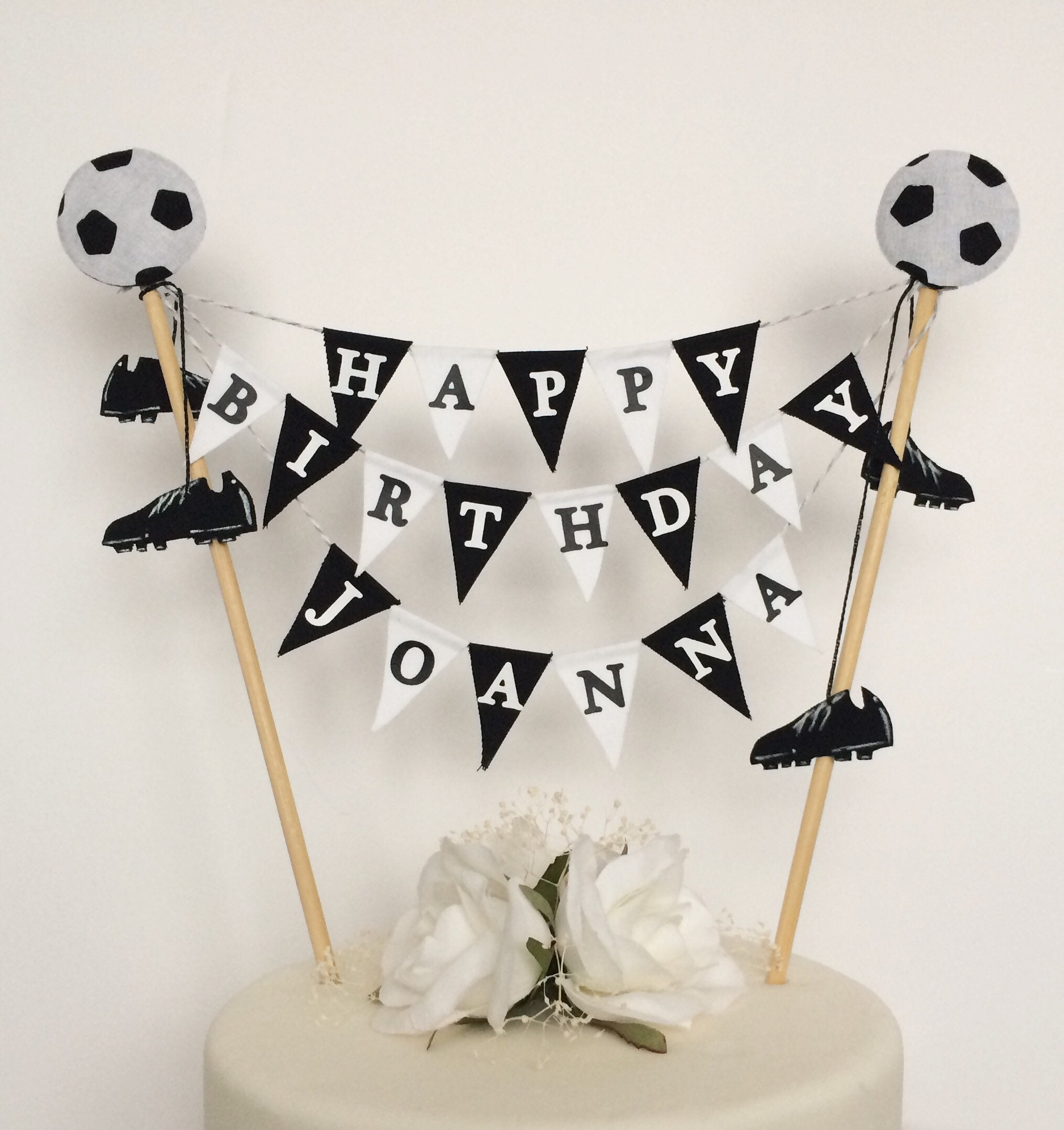 Personalised football cake topper