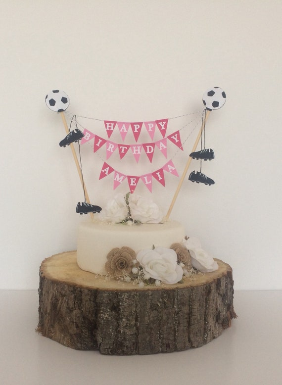 Personalised Football Cake Topper Birthday Manchester Etsy