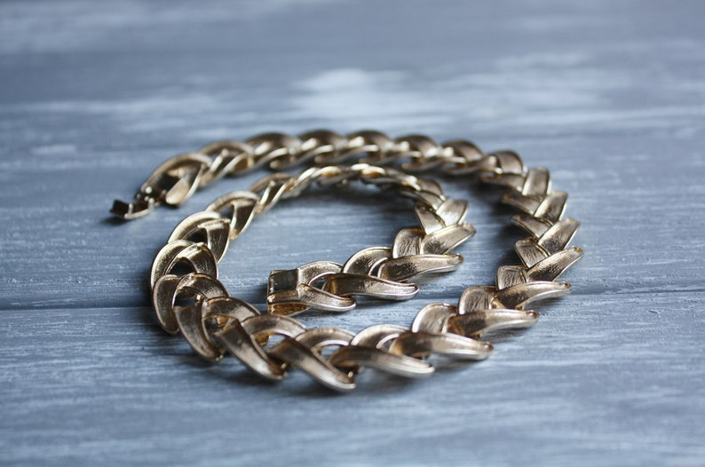 edb5f0c6daa Vintage chunky chain necklace Antique brutalist jewelry