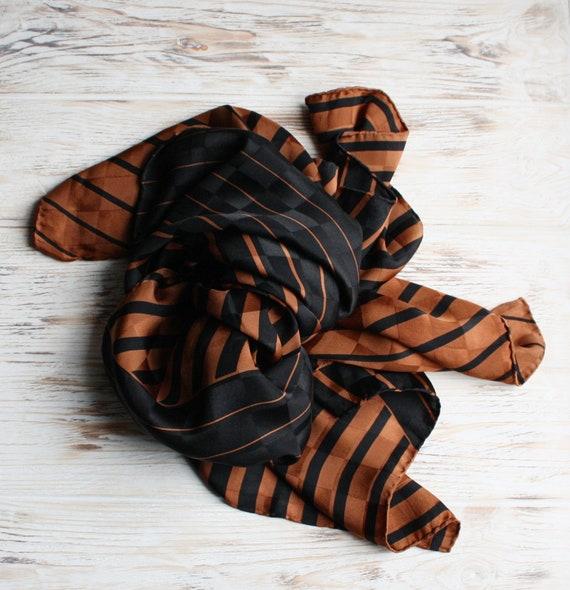 Vintage Ferragamo scarf Vintage black brown scarf