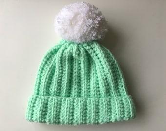 Handmade baby hat, Crochet bobble hat, Crochet baby beanie, Baby beanie, Baby hat, Bobble hat for babies, Baby shower gift