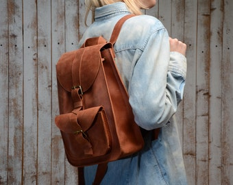 Leather backpack, leather backpack women, leather bag, backpack, wommens leather backpack, school backpack, backpack women, womens backpack