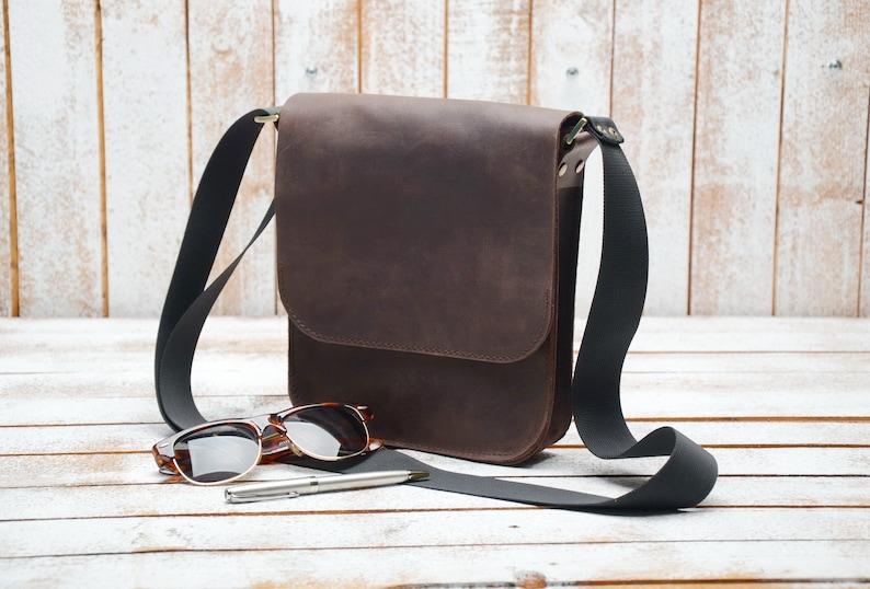 Leather bag Men s crossbody bags Mens gift Leather bag  37331b1b1b8a6