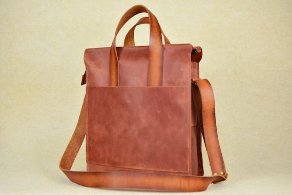 8620282349a7 Leather Messenger Bag Leather Bag Messenger bag men laptop