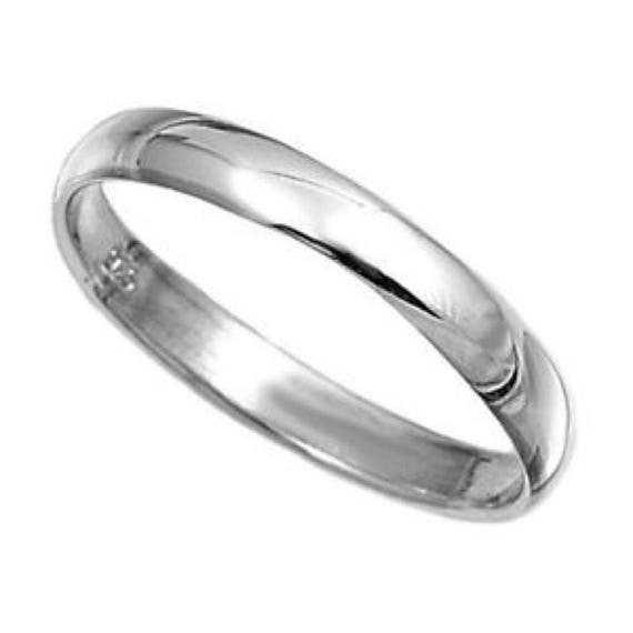 .925 Sterling Silver Plain Wedding Band Ring All sizes 2mm 3mm 4mm 5mm 6mm