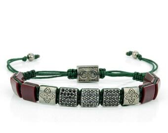 express shipping sterling silver beaded bracelet shamballa bracelet mens bracelet christmas gift unisex gift ideas flatbead