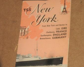 Greek Line New York To Europe Advertising Brochure   [c4954o]