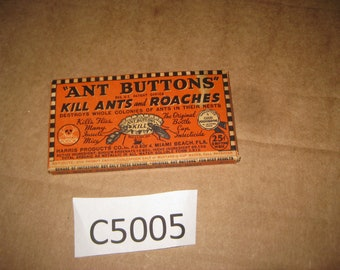 "Advertising box for ""Ant Buttons""    [c5005o]"