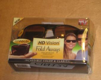 HD Vision Fold Aways High Definition Sunglasses    [cin124bt]