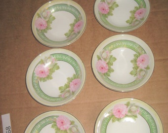 P S porcelain dessert bowls    lot of 6   [geo3868bt]