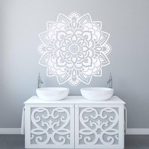 Mandala Art Decal Mandala Sticker Living Room Decal Yoga Studio Decor Gift For Her Wall Art Ideas White Mandala Decor For Walls 057