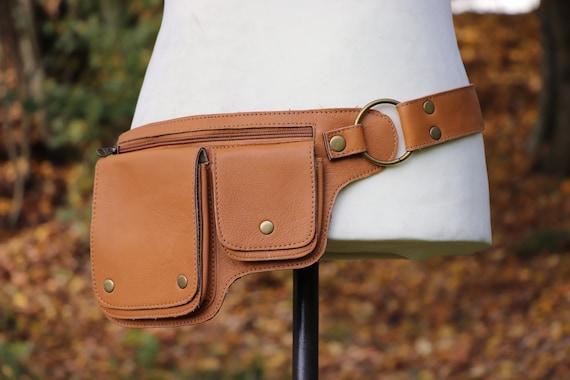 Leather Belt Bag Hip Bag COGNAC Hipbag