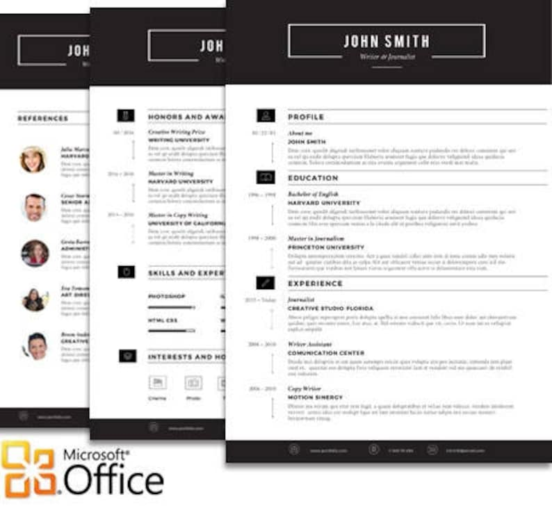 Sleek Resume Templates Modern