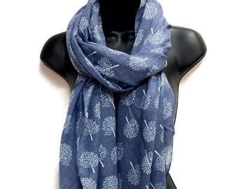 f2d09cafcb Mulberry Tree Pattern Blue Scarf