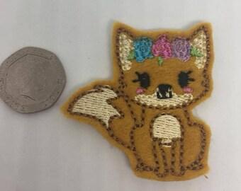 Set of 4 cute Fox felties