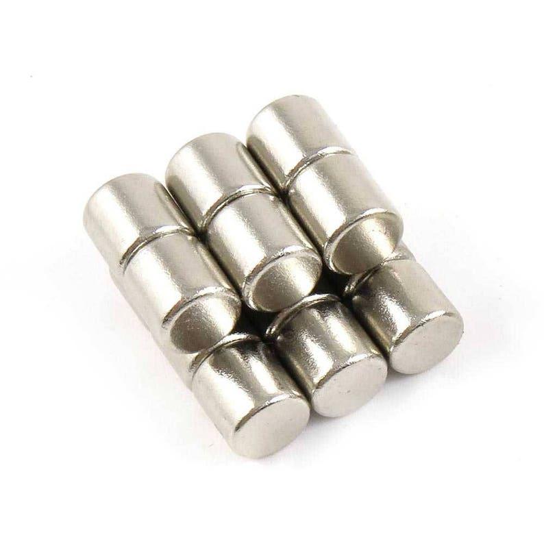 "Neodymium Refrigerator Magnets Rare Earth N35 10x10mm Cylinder 3//8/"" x 3//8/"""