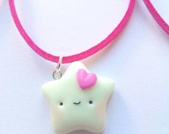 Star Necklace, Glow in the Dark, Kids Jewelry, Girls, Kawaii Jewelry, Gift for Her