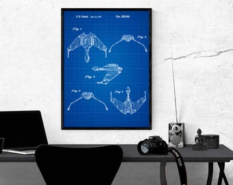 Star Trek Art Wall Poster Home Decor Star Trek Patent Star