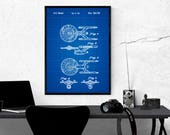 Star Trek Art, Wall Poster, Home Decor, Star Trek Patent, Star Trek, Wall Decor, Patent Poster U.S.S Enterprise - Digital Print-Downloadable