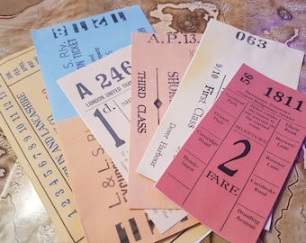1910s Public Transport Tickets