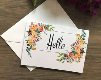 Hello Blank Card - Pack of 20