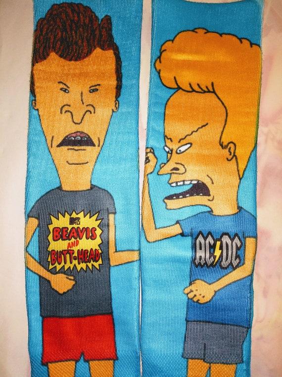 Butthead and Beavis custom socks