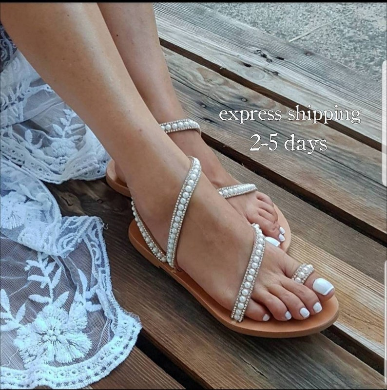 abfa6e2f93 Wedding sandals, Woman shoes, Bridal wedding shoes, Handmade Greek sandals  made of genuine cowhide leather, FREE SHIPPING