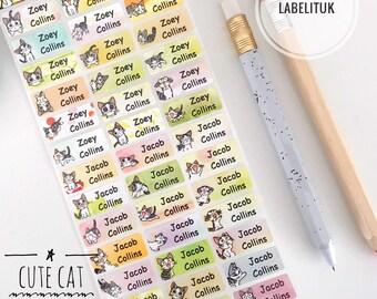 931ad6ab88c9 Cat labels | Etsy