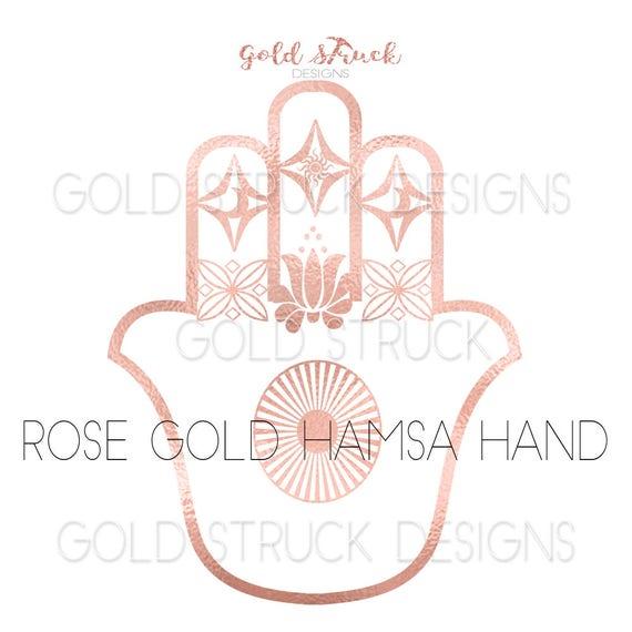 Rose Gold Hamsa Hand Symbol Clipart Image Yoga Luck Hand Etsy Human hands in prayer gesture illustration, praying hands prayer praise. etsy