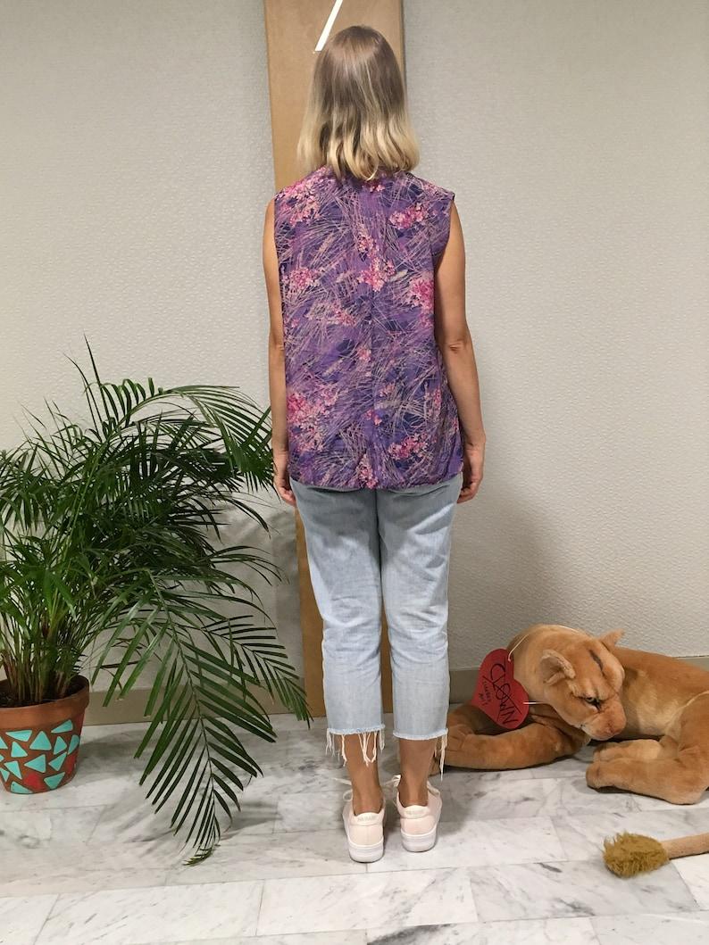Vintage vest pattern purple floral