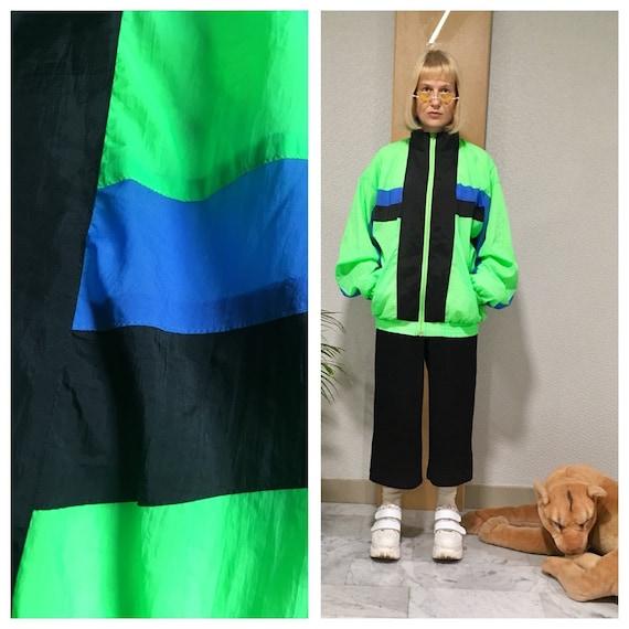 90s neon tracksuit jacket