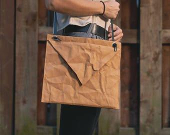 Messenger bag, Envelope bag, Reusable paper bag, Ipad case, Washable paper bag, Original bag, Eco-friendly, Recycled bag, shoulder bag