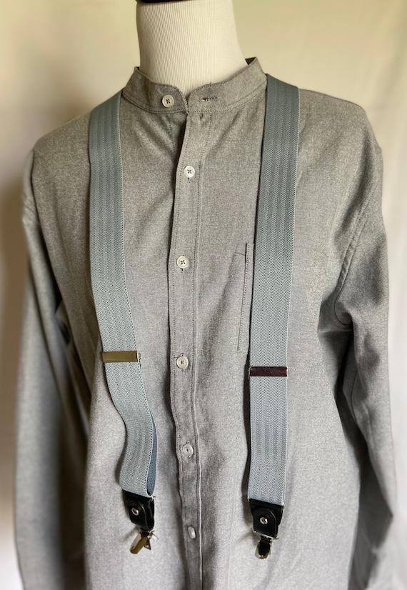 Vintage Style Suspenders, Gray Suspenders, Gray Su