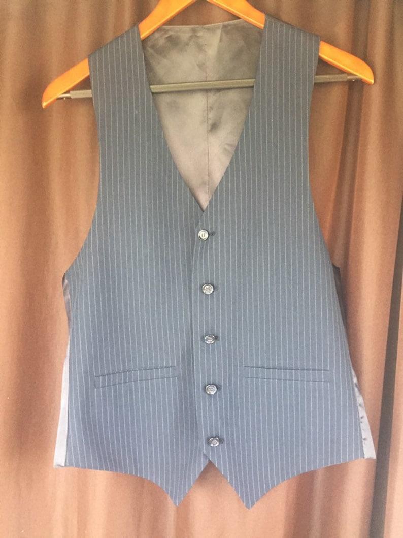 1930s Style Vest Vintage Navy Vest Men/'s Formal Vest Men/'s Vintage Vintage Style Vest Vintage Vest Men/'s Pinstripe Vest Size Medium