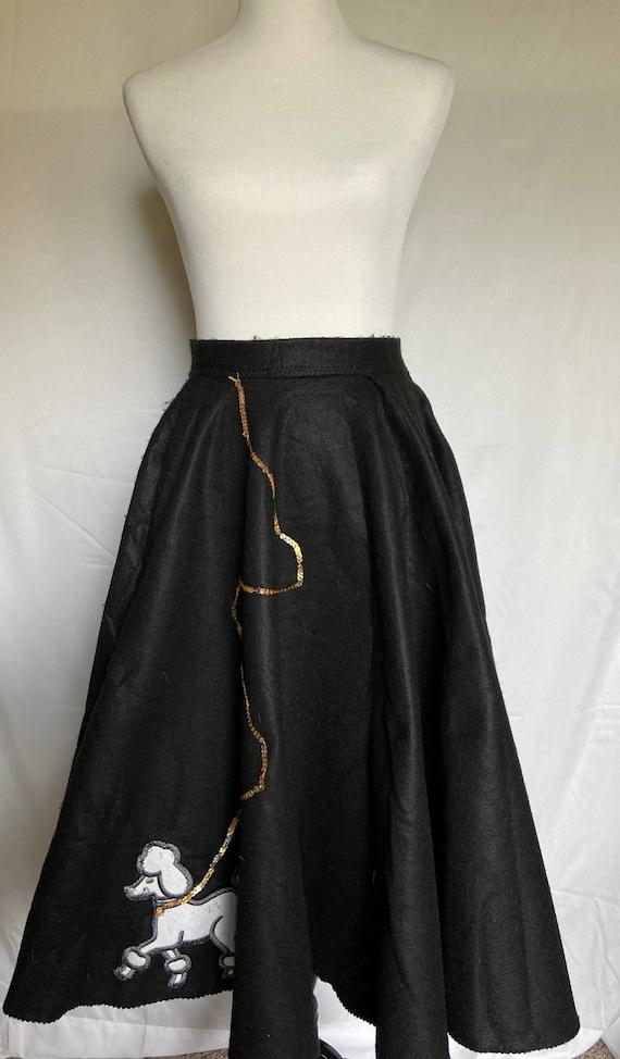 1950s Poodle Skirt, Vintage Poodle Skirt, 1950s St