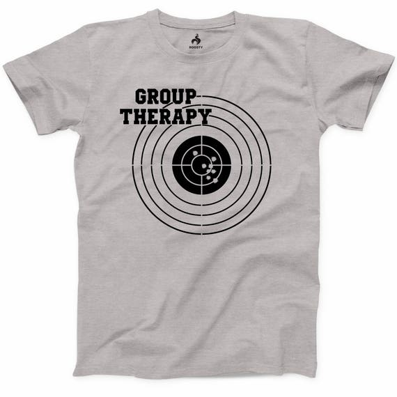 5c686d328b Group Therapy Shooting T Shirt Funny Gun Laws Rights American | Etsy