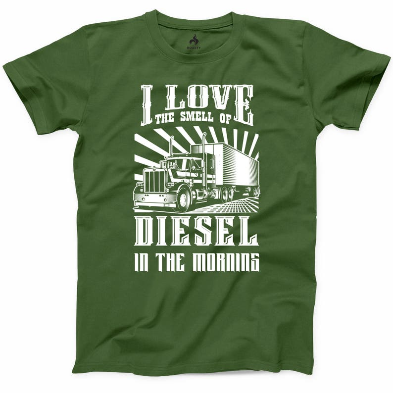 c71970887 Truck Driver T Shirt I Love The Smell of Diesel Funny Trucker   Etsy