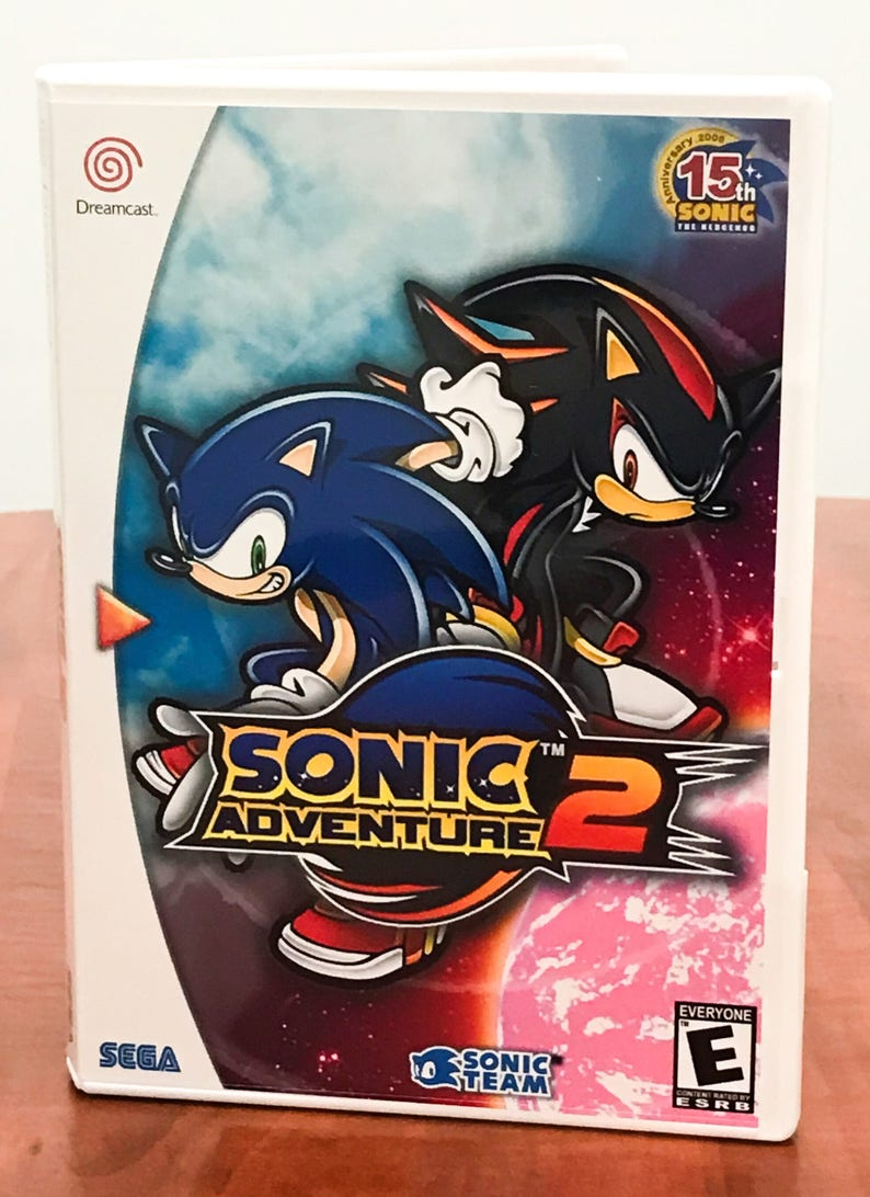 Sonic Adventure 2 Sega Dreamcast Reproduction Backup Disc In Case