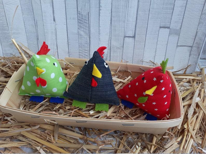 Trio of hens berlingot