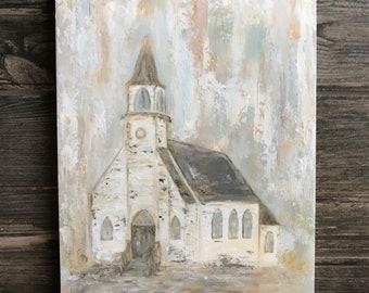 Textured church