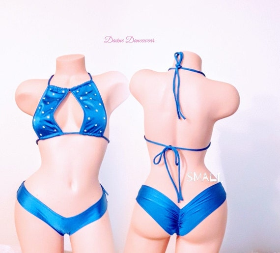"""Stripperwear Exotic Dancewear /""""Sin/"""" Invisible String 1 Piece Dance Clothes"""