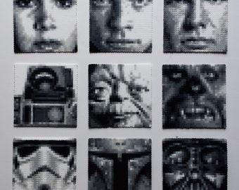Star Wars Fused Bead Pixel Art Mini Portraits