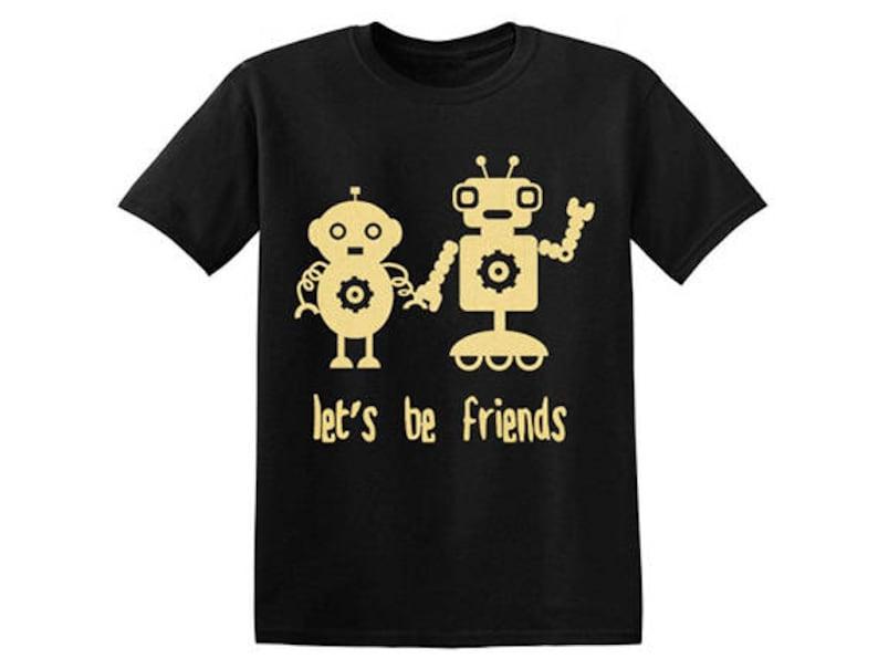 7028d1803 Robot Friends Girls Boys Gender Neutral Baby Kids T Shirt | Etsy