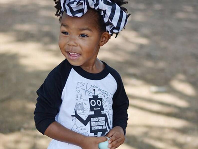 7ad07bb0c Robot Shirt Nerd Kids Clothes Math Shirt STEM Baseball Tee | Etsy