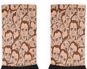 Nicolas Cage Pattern Socks