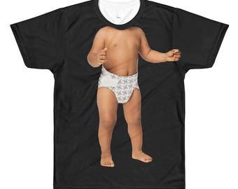 Lichaam van Baby T-T-shirt-Funny afgedrukt