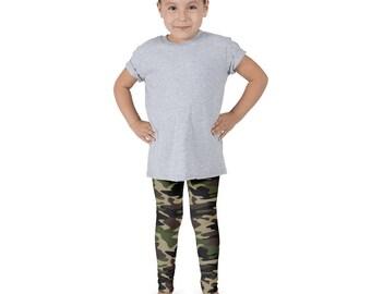 Green Camo Kid's leggings