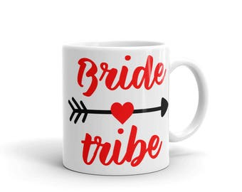 Bride Tribe Red Mug made in the USA