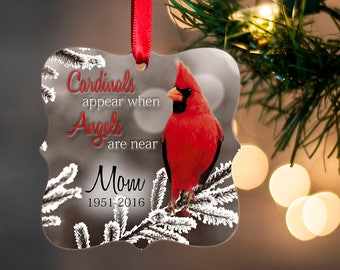sympathy ornament for lost loved one in loving memory ornament memorial gift for christmas red cardinal ornament