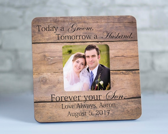 Forever Your Son Frame, Parents Of The Groom Gift, Wedding Gifts For ...